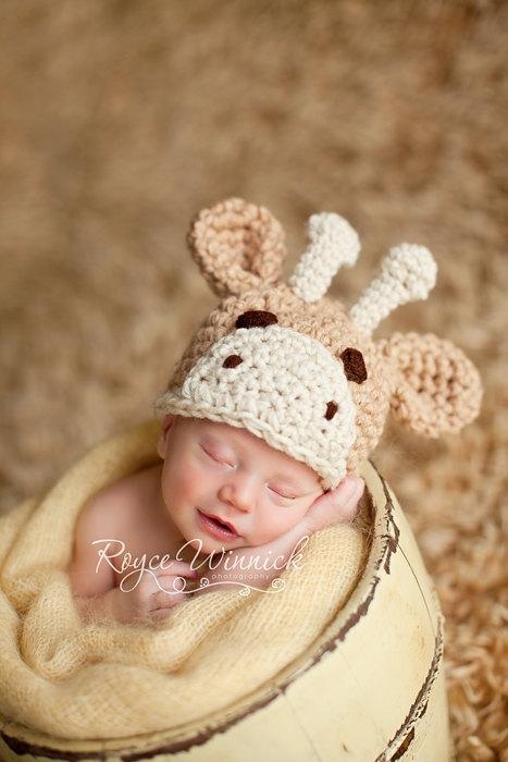 Giraffe Baby Beanie Hat