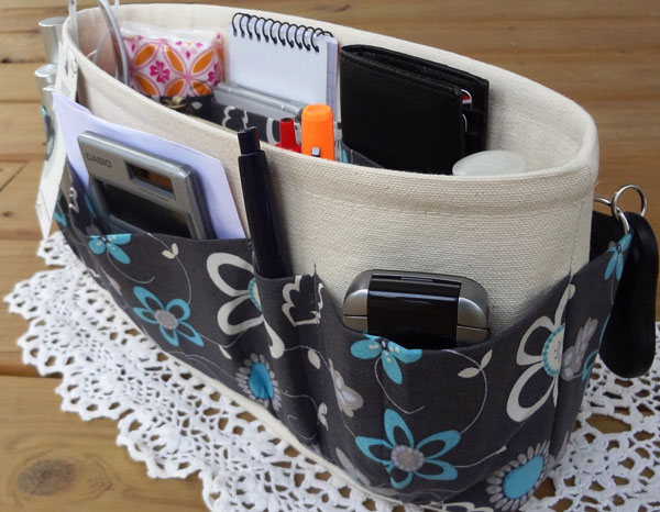 Grey Blue Bag Organizer by DivideAndConquer
