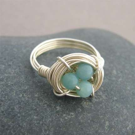How to Make a Bird's Nest Ring Tutorial
