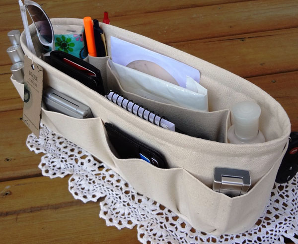 Tan Removable Purse Organizer by DivideAndConquer