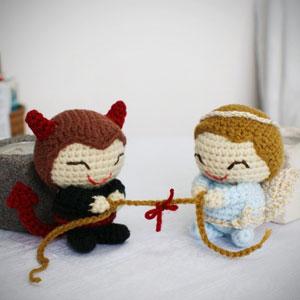 Crochet wedding doll | Etsy | 300x300