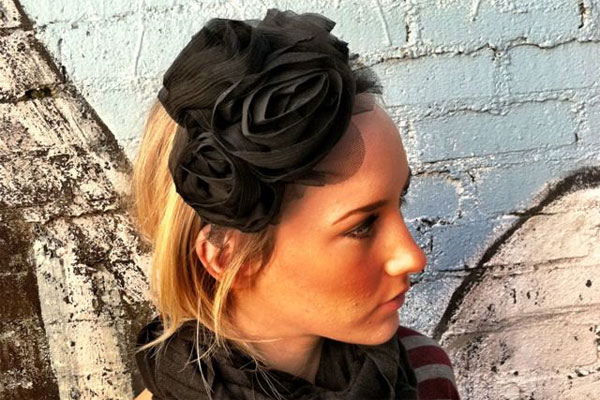 Black Flower Headbands