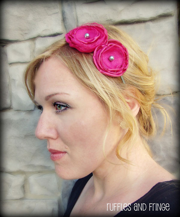 Fuchsia Pink Flower Headbands