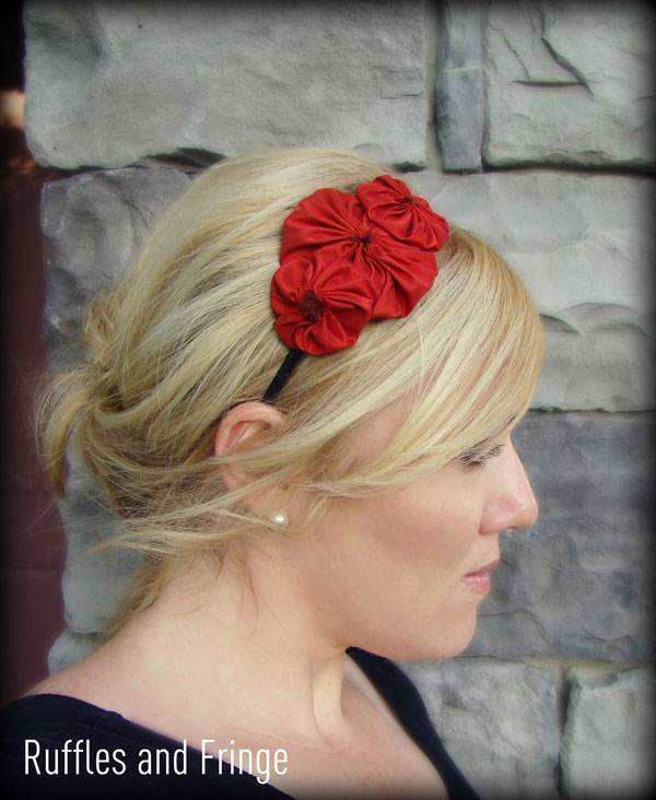 Red Flower Headbands