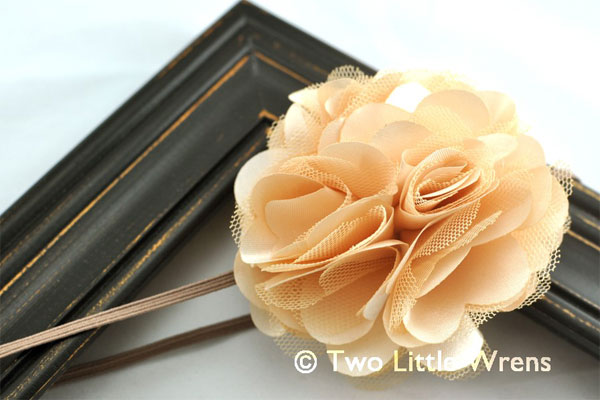Beige Flower Headbands
