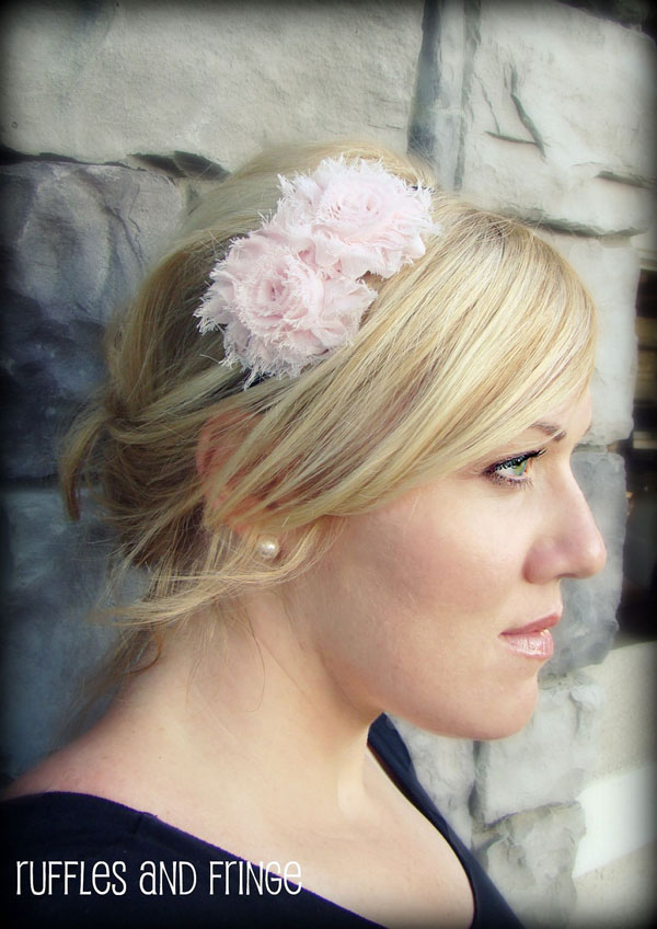 Soft Pink Headband with Flower
