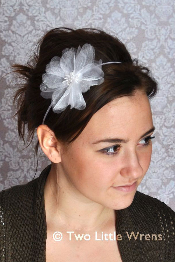White Flower Headbands