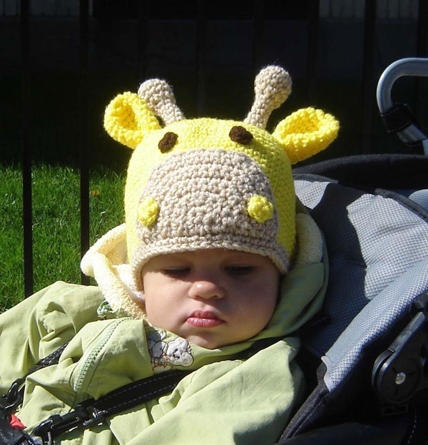 crochet hat giraffe pattern
